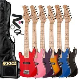 """Raptor 30"""" 1/2 Size Kids Electric Guitar Package with Amp, B"""