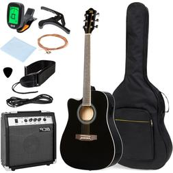 41in Full Size Acoustic Electric Cutaway Guitar Set Starter