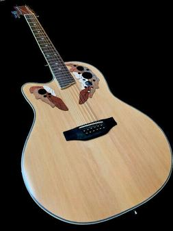 GREAT PLAYING NEW 12 STRING DELUXE ACOUSTIC ELECTRIC ROUND B