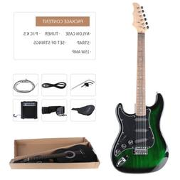 """Full Size 39"""" Electric Guitar with 15w Amp, Case and Accesso"""