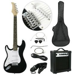 New Black Electric Guitar with Amp Case and Accessories Pack