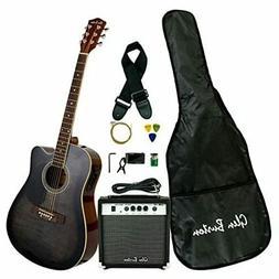 Glen Burton GA204BCO-NT Acoustic Electric Cutaway Guitar, Na