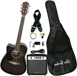Glen Burton Ga204Bco-Bk Acoustic Electric Cutaway Guitar