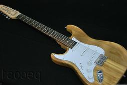 GUITARS-CLOSEOUT-NEW NATURAL ADVANCED 12 STRING STRAT STYLE