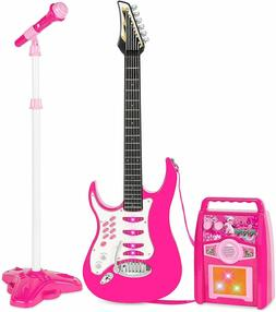 Best Choice Products Kids Electric Guitar Set w/ Whammy Bar,