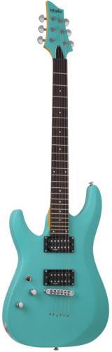 Schecter C-6 Deluxe Electric Guitar Satin Aqua Finish, 428