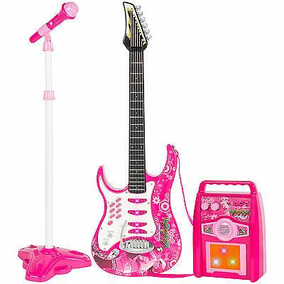 Best Choice Electric Guitar Play Set W/ Amp Musical Play Set- Pink