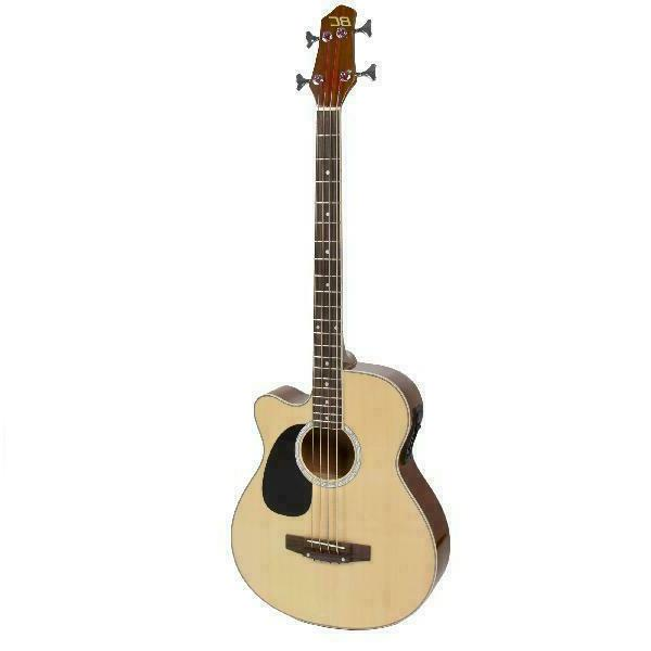 Full Size Acoustic Electric Bass Guitar 22-Fret with 4-Band