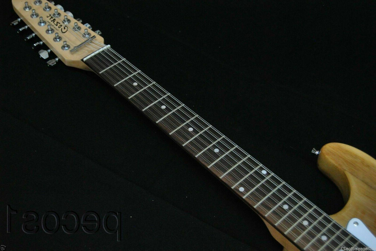 GUITARS-CLOSEOUT-NEW NATURAL STRING STRAT STYLE ELECTRIC GUITAR
