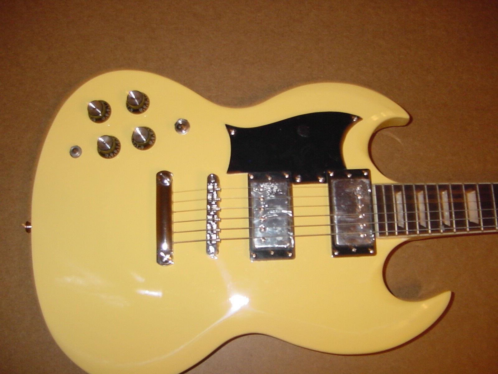 New 6 Electric Guitar Vintage Blonde Neck Gig Bag
