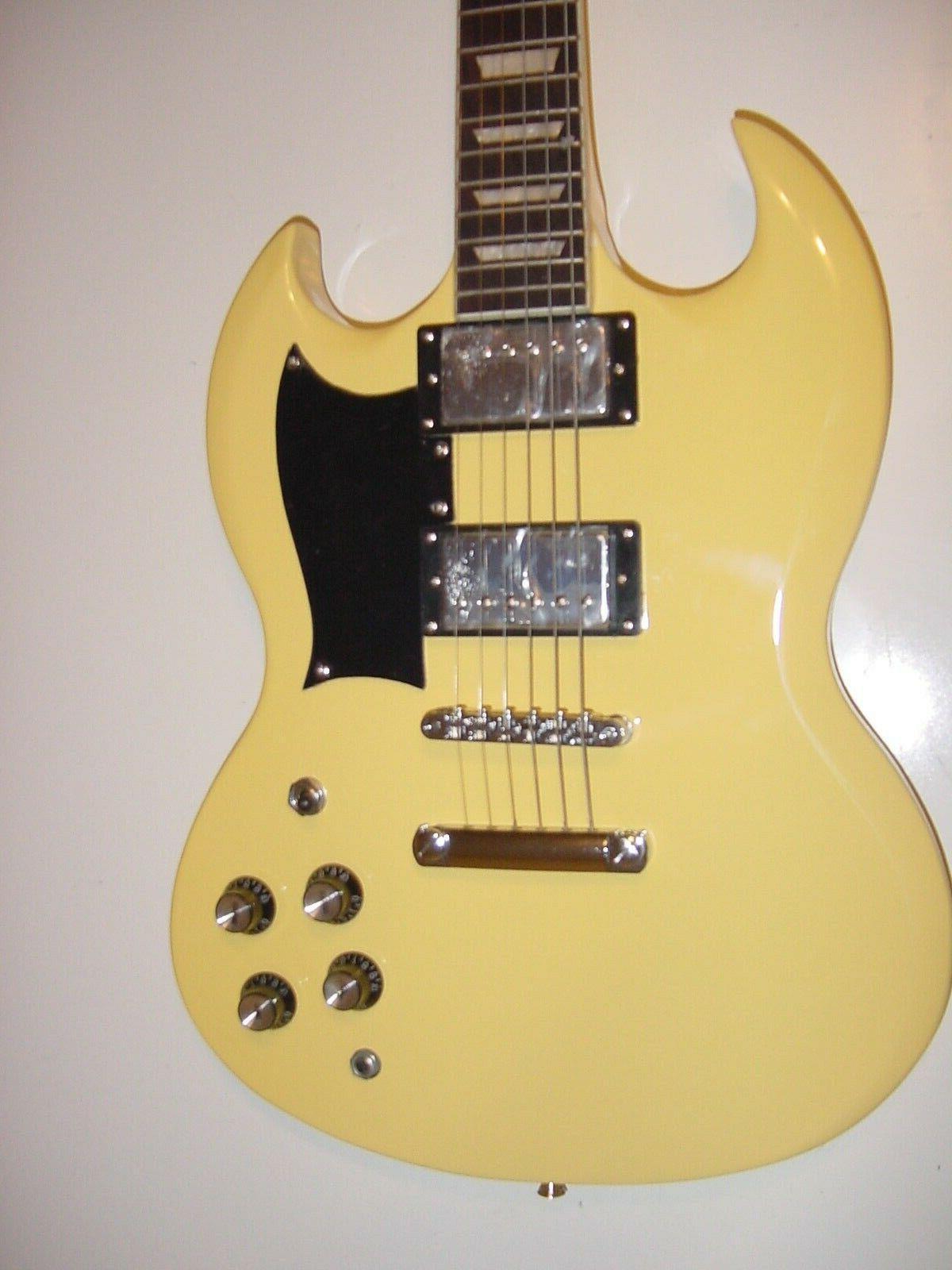new 6 string electric guitar vintage blonde