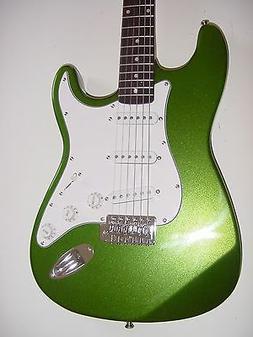 "New 39"" Full Size  Metallic Green 6 String  Electric Guitar"