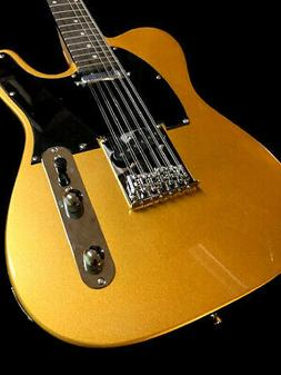 NEW 12 STRING TL STYLE SLAB BODY GOLD FINISH COZART ELECTRIC