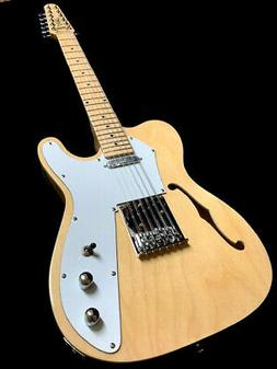 NEW 12 STRING NATURAL TELE STYLE SEMI-HOLLOW MAPLE TOP ELECT