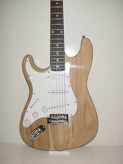 NEW Full Size  Natural 6 String S Style  Electric Guitar wit
