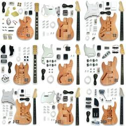 Unfinished DIY Electric Guitar Kit Set LP/ST/TL/SG/PB/JB Sty